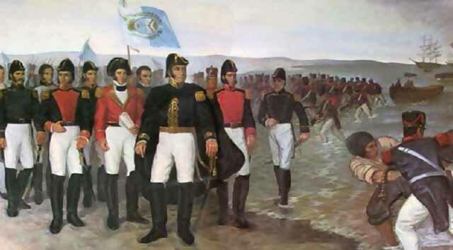 Desembarco de San Martín a Paracas