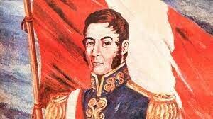 Establecimiento de la primera bandera y escudo del Perú