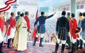 10) Proclamación de la Independencia del Perú (28 de julio de 1821).