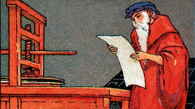 Johannes Gutenberg inventa prensa de imprenta