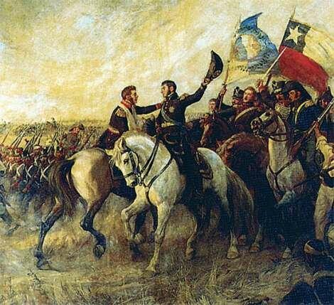 Las fuerzas organizadas de San Martin inician el cruce de la cordillera de los Andes y llegan a Chile.