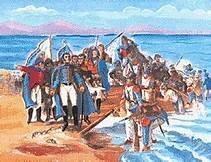 Desembarco de San Martín en Paracas