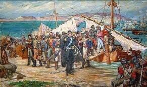 3) Desembarco de San Martín en Paracas (8 de setiembre de 1820)