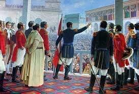 Don Jose de San Martin proclamo la Independencia del Peru.