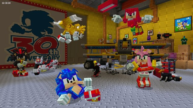 Minecraft crosses over with Sonic the Hedgehog