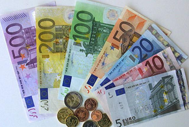 Primer día de la circulación del Euro.