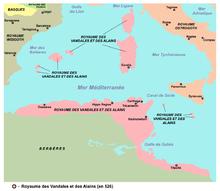 Les rois vandales règnes sur le royaume de l'actuelle Tunisie