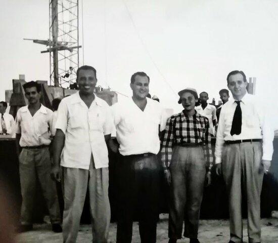 Instalación de la antena de La Voz Dominicana