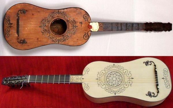 Primera versión de la Guitarra Española
