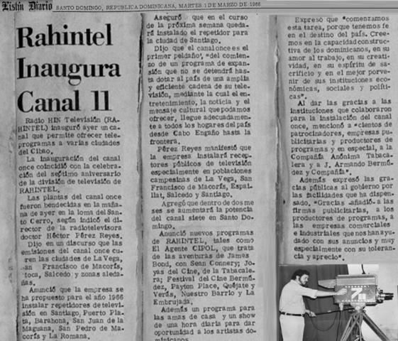 Rahintel inaugura canal 11 para el Cibao.