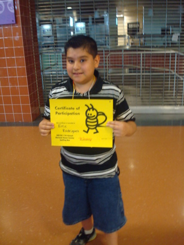 2nd Place in NJHS 11th Annual Spelling Bee
