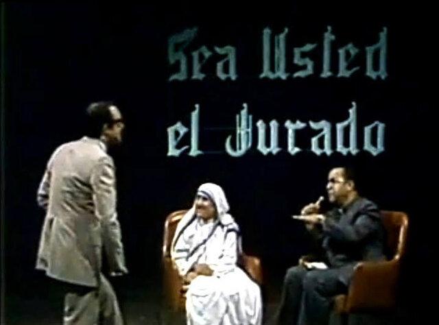 """La Madre Teresa de Calcuta en """"Sea Usted el Jurado""""."""