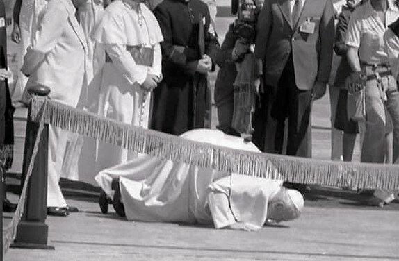 Primera visita de su santidad El Papa Juan Pablo II a RD.