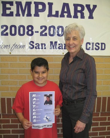 Named Superintendent's Student Of The Month