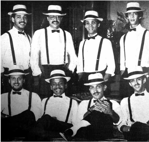 Familia André en el Palacio de los Deportes .