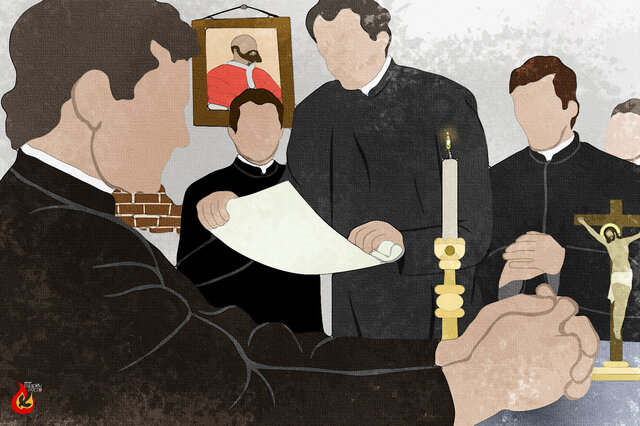9.-don Bosco con su consejo general
