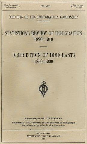Dillingham Commission report