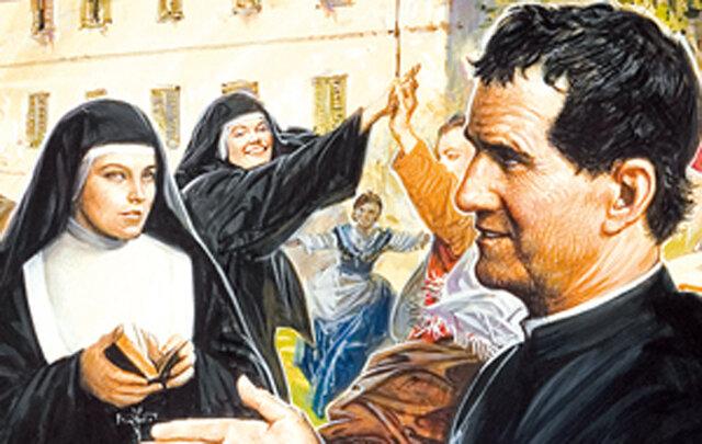 12.- Visita de Don Bosco después de la fundación