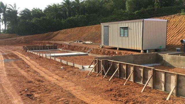 Lepar: Pembinaan Tapak Asas Stesen Timbang