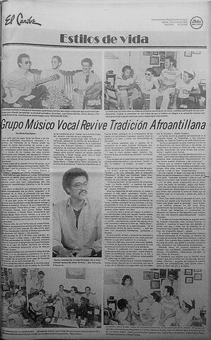 Grupo musico-vocal revive tradición afroantillana