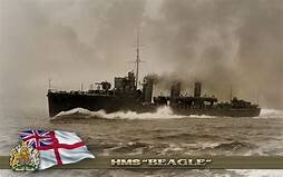 Ends time on Beagle British Warship.