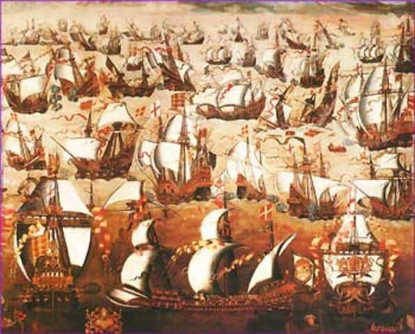 English defeated Spanish Armada.