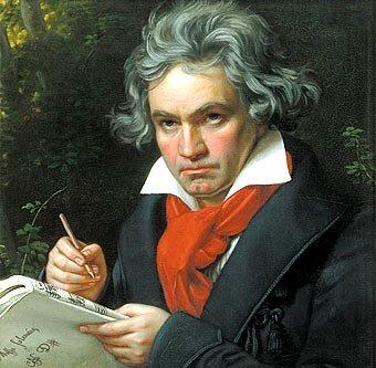 el compositor alemán Ludwig van Beethoven dirige el estreno de su Primera sinfonía.