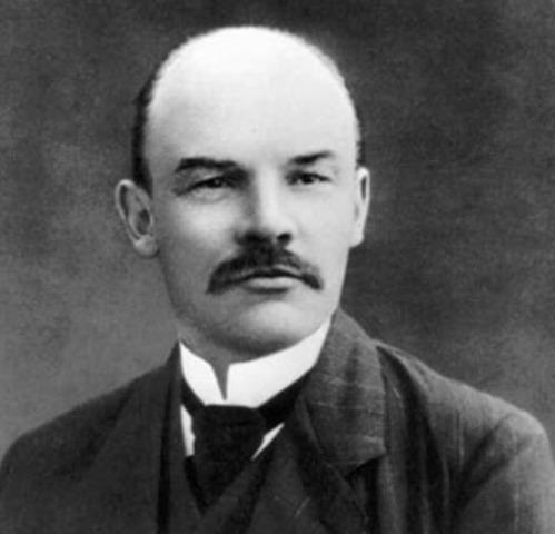 Bolshevik Revolution: Return of Lenin from Denmark