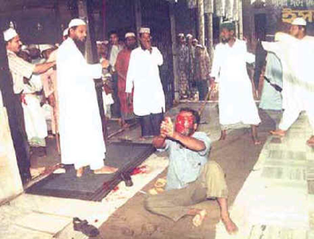 Riots between Hindus and Muslims