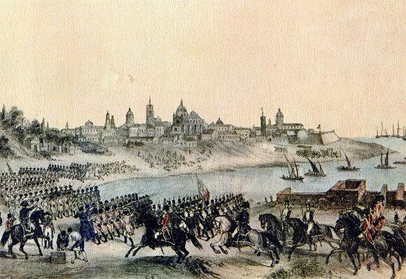 La Primera Invasión Inglesa, en la que las tropas británicas ocuparon la ciudad de Buenos Aires, capital del Virreinato del Río de la Plata las cuales fueron vencidas 46 días después por el ejército compuesto por milicias populares.