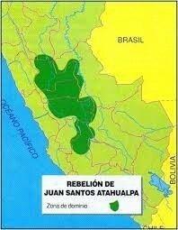 Juan Santos se replegó hacia los territorios que dominaba.