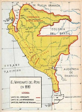 Se establecen las intendencias en el Virreinato del Perú.
