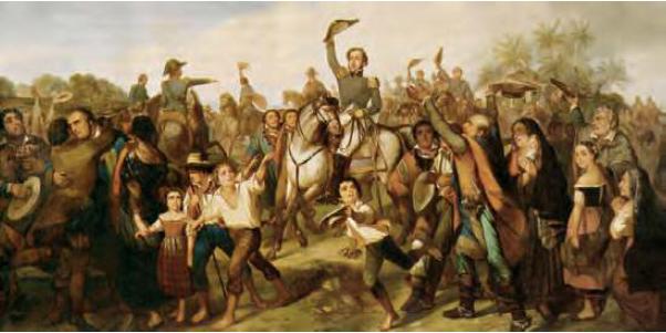 Grito de Ipiranga. Independencia de Brasil