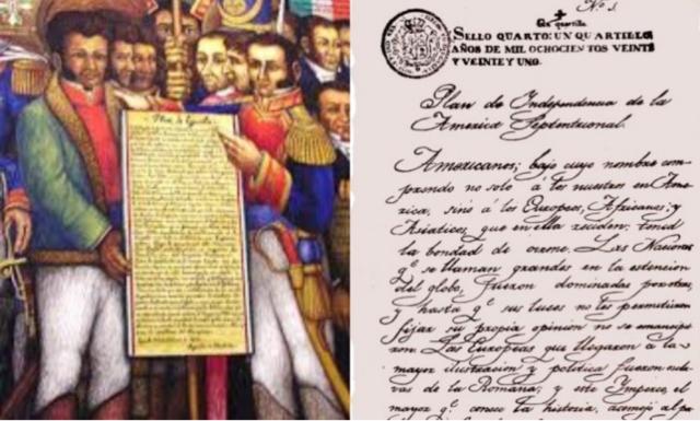 Plan de Iguala. Independencia de México.