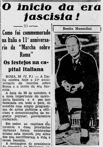 Ascensão do Fascismo de Mussolini