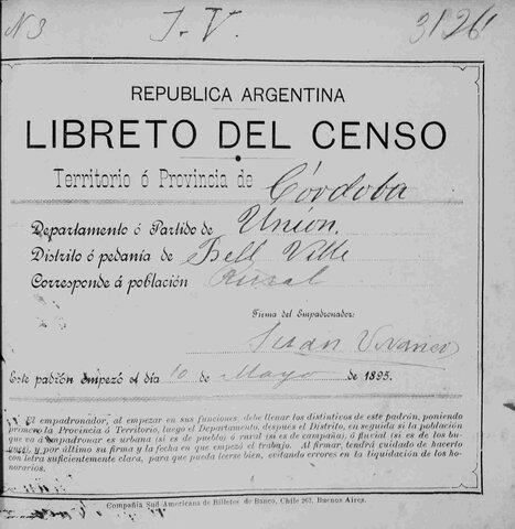 Censo Nacional Argentino (4,094,911 Habitantes Aproximadamente)