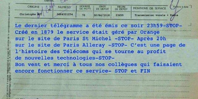 Último Telegrama De La Historia