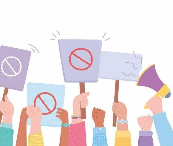 Primeras protestas en contra de la desigualdad