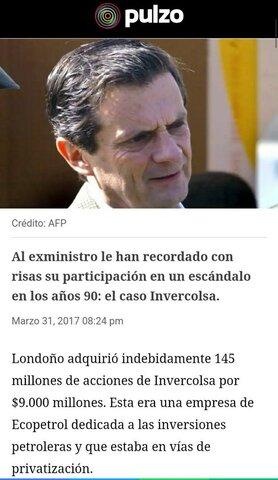 INVERCOLSA SCANDAL.