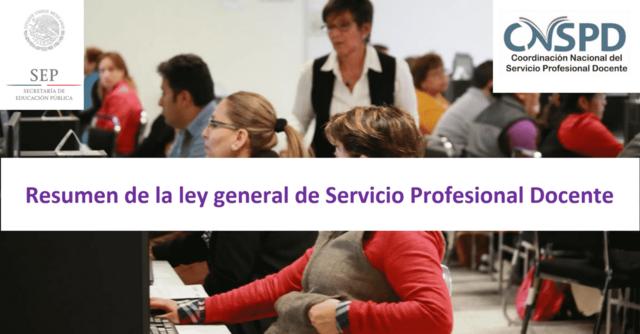 LEY GENERAL PROFESIONAL DEL SERVICIO DOCENTE