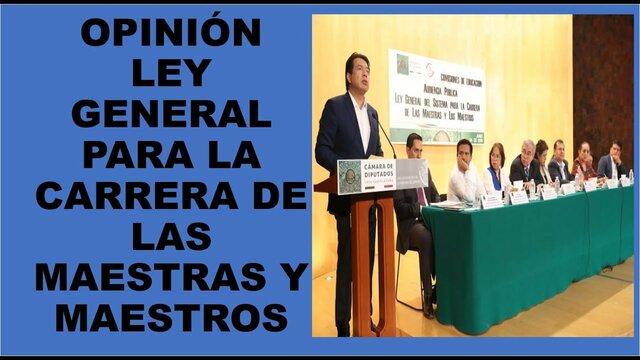 LEY GENERAL DE SISTEMAS PARA LA CARRERA DE MAESTROS Y MAESTRAS.