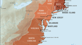 The first American colonies timeline