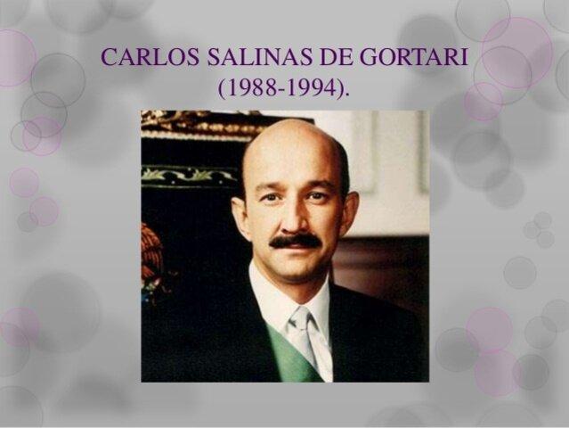 1989-1994: Carlos Salinas de Gortari