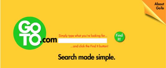 Primera subasta publicitaria de palabras clave en buscadores.