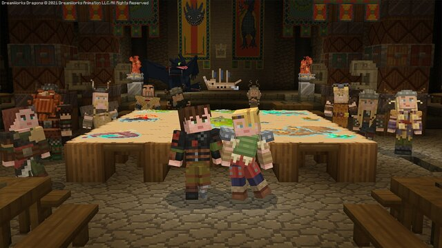 Minecraft crosses over with How to Train Your Dragon