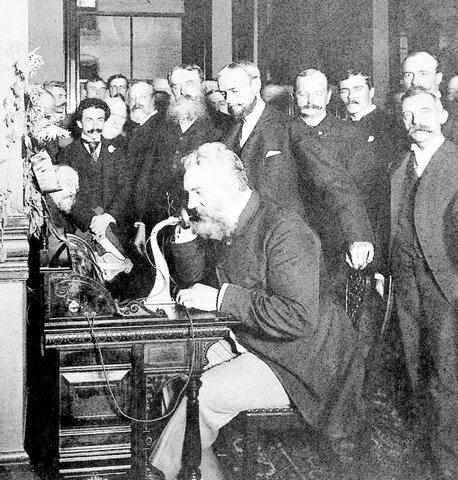 La primera conversación telefónica