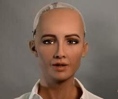 Robot Sophia con Inteligencia Artifical