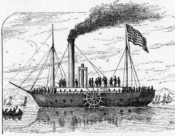 Barco a Vapor  de Robert Fulton