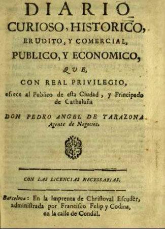 Primer periódico en España.