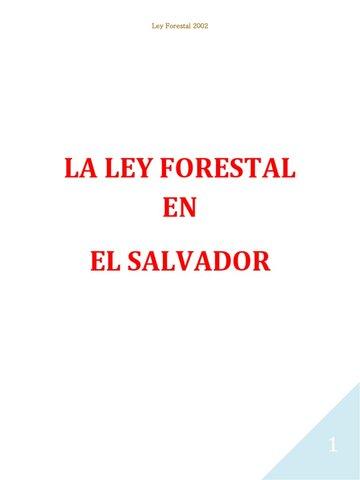 LA LEY FORESTAL DE 2002